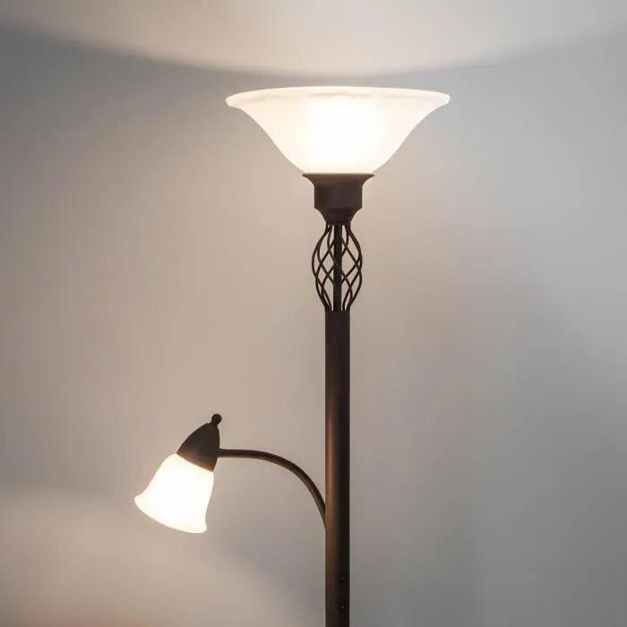 lampenwelt lampadaire led pour salon et salle a manger dunja