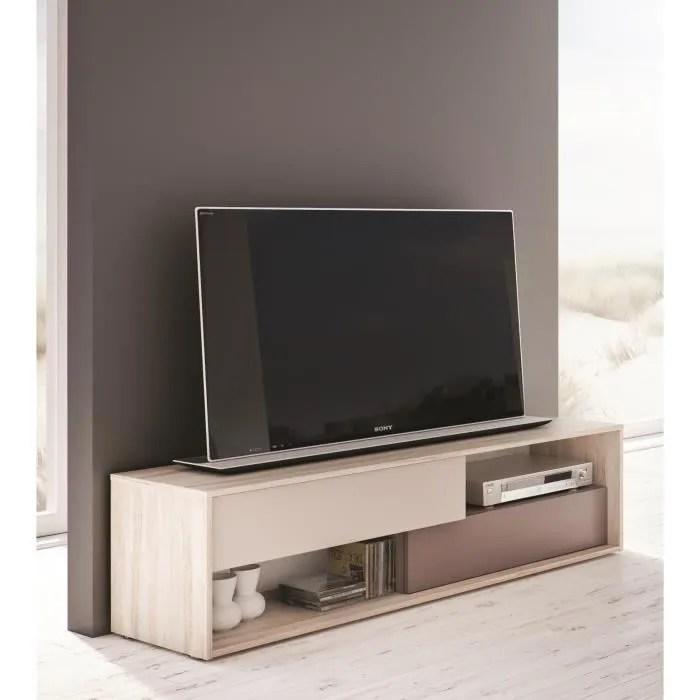 nova meuble tv 156 cm bouleau gris