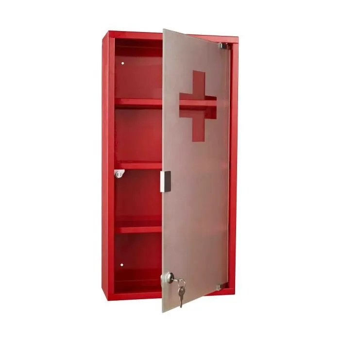 Armoire A Pharmacie Rouge Achat Vente Pas Cher