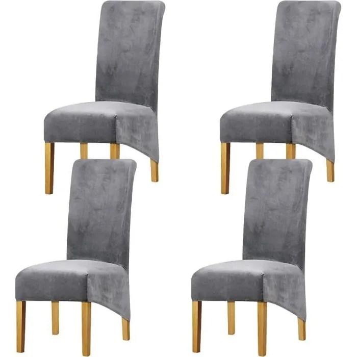 lot 4 housses de chaise