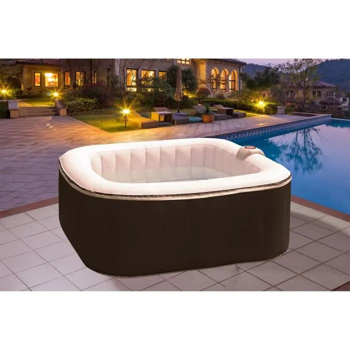 sunspa spa gonflable carre lamine 4 personnes a le