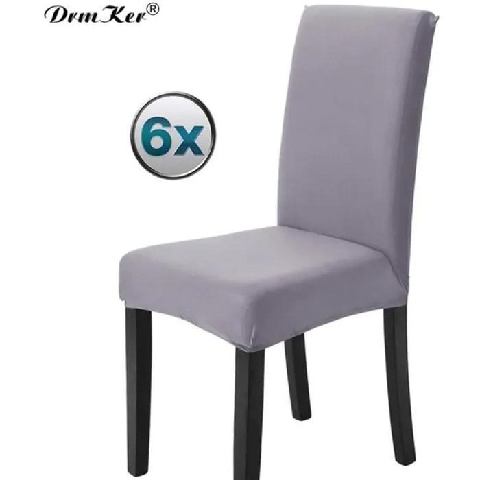 housse de chaises haute salle a manger pas cher gris 6 pieces stretch housse extensible bi elastique moderne housse decor de chaise