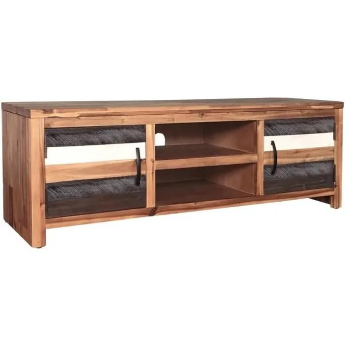 meuble tv style industriel bois de manguier ma