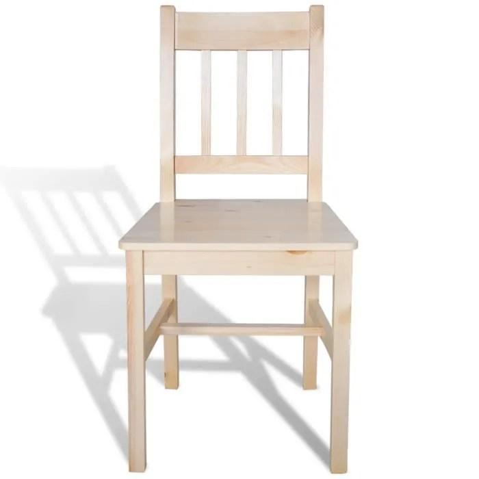 6pcs chaise salle a manger en bois naturel cuisine confortables durables impermeables haute qualite