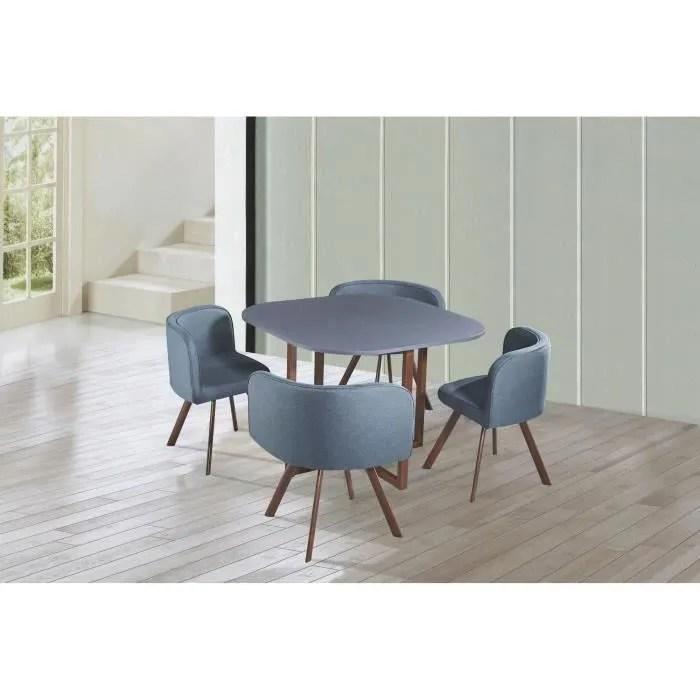 table a manger avec chaise encastrable