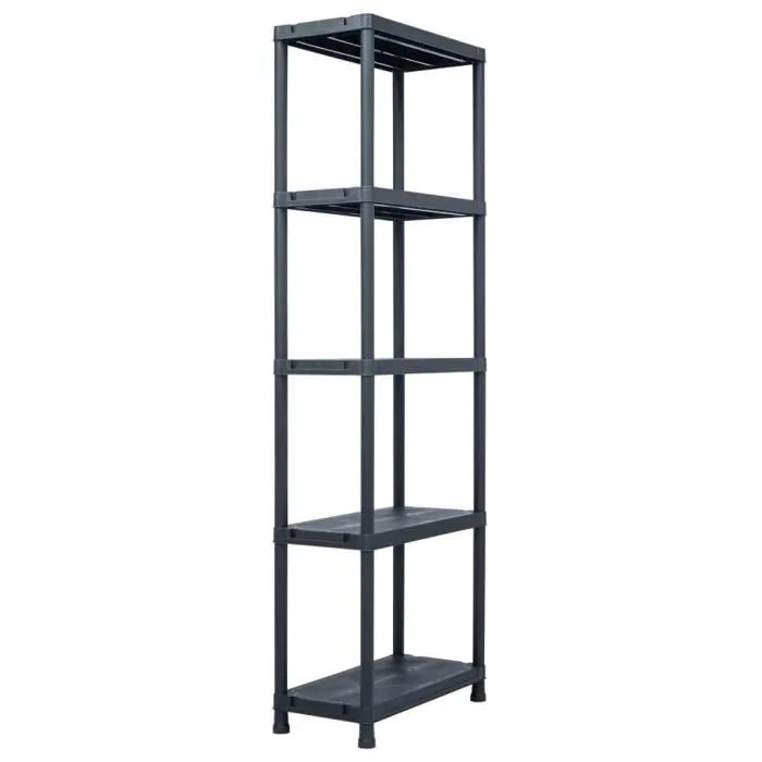 etagere de rangement pour garage etagere d atelier rangement noir 125 kg 60x30x180 cm plastique