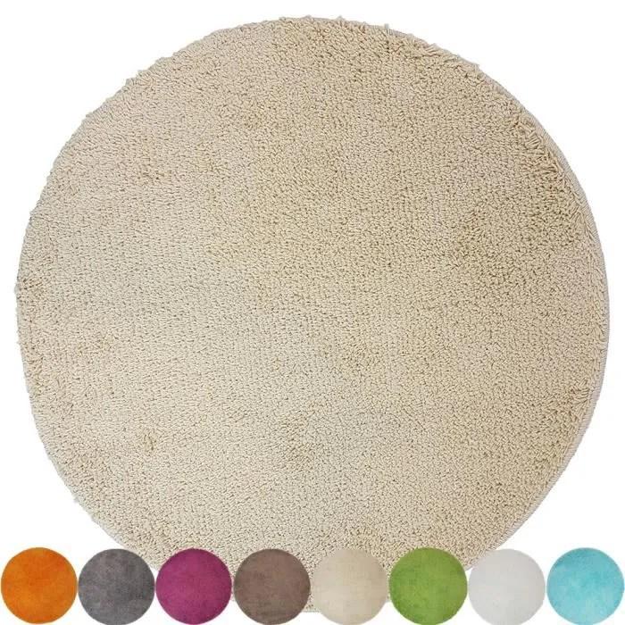 tapis de bain rond lasalle anti glissant et douill