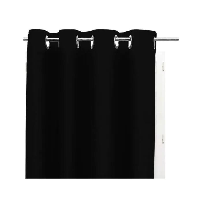 rideau noir et blanc