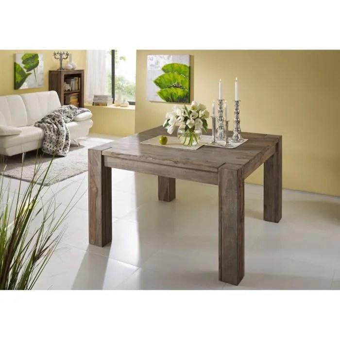 table a manger carree 120x120cm bois massif de palissandre huile nature grey 402