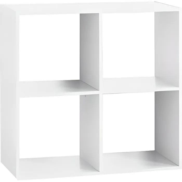 etagere bois 4 cases blanc autres blanc