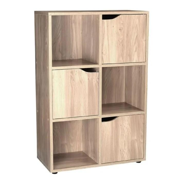 etagere de rangement en bois 6 cube 3