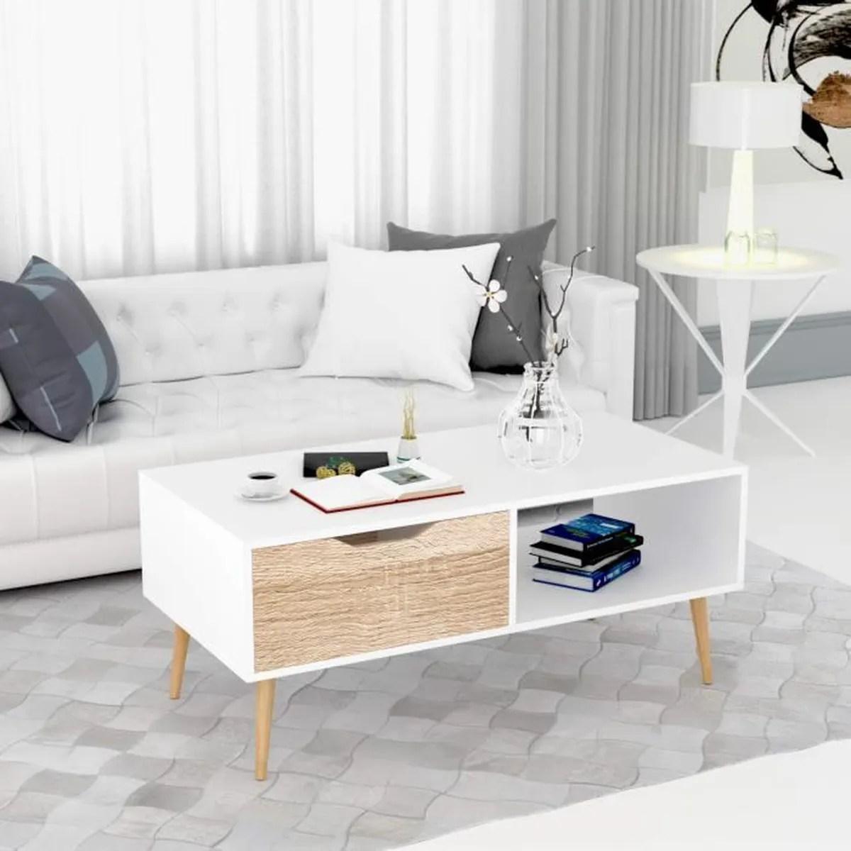 homfa table de salon scandinave table