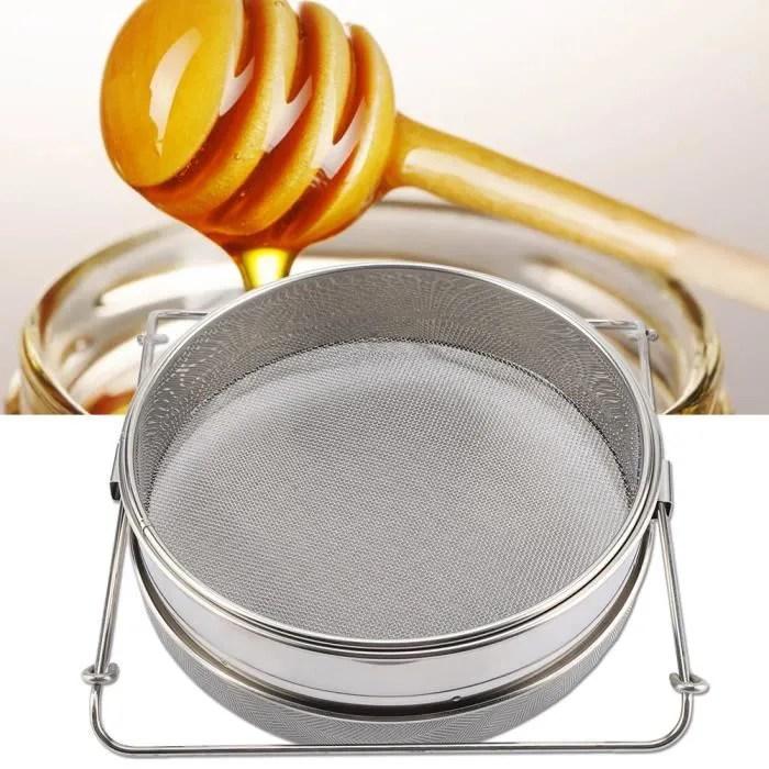 outil d apiculture de filtre de tamis de miel de feuille de tamis double equipement agricole d elevage d acier inoxydable argent