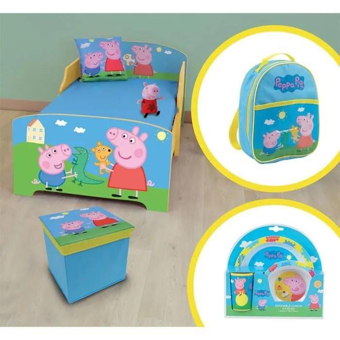 peppa pig pack chambre enfant complete modele aleatoire