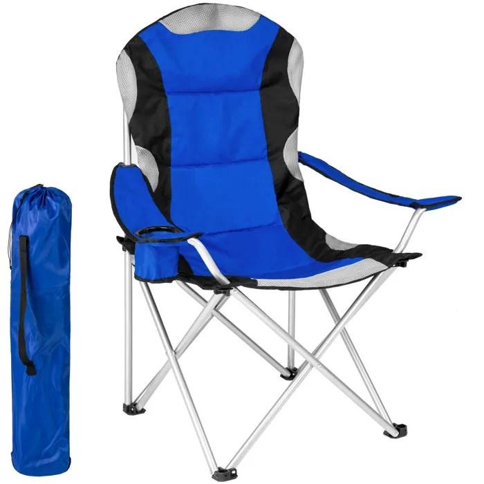 tectake 1 chaise pliante de plage de camping avec