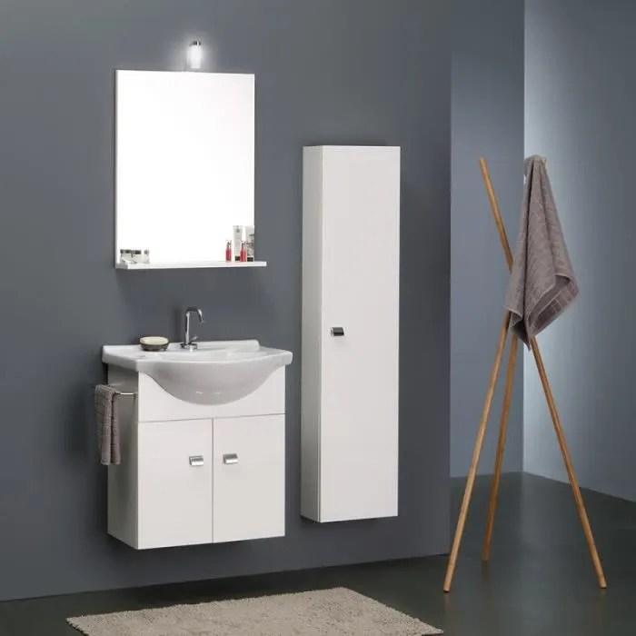 meuble lavabo 58cm colonne 31cm pour petites salles de bains