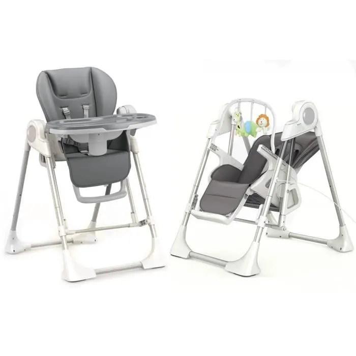 le splity 3 en 1 chaise haute balancelle transat toutes options mp3 chargeur