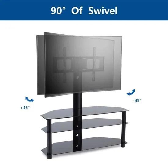 rfiver meuble tv support tv pivotant