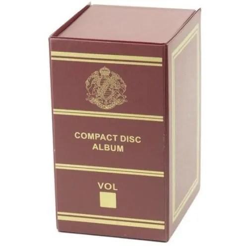 range cd dvd boite de rangement pour cd bordeaux