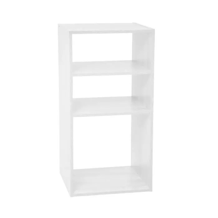 five meuble etagere de rangement en bois blanc 3 cases h 67 cm mix n modul
