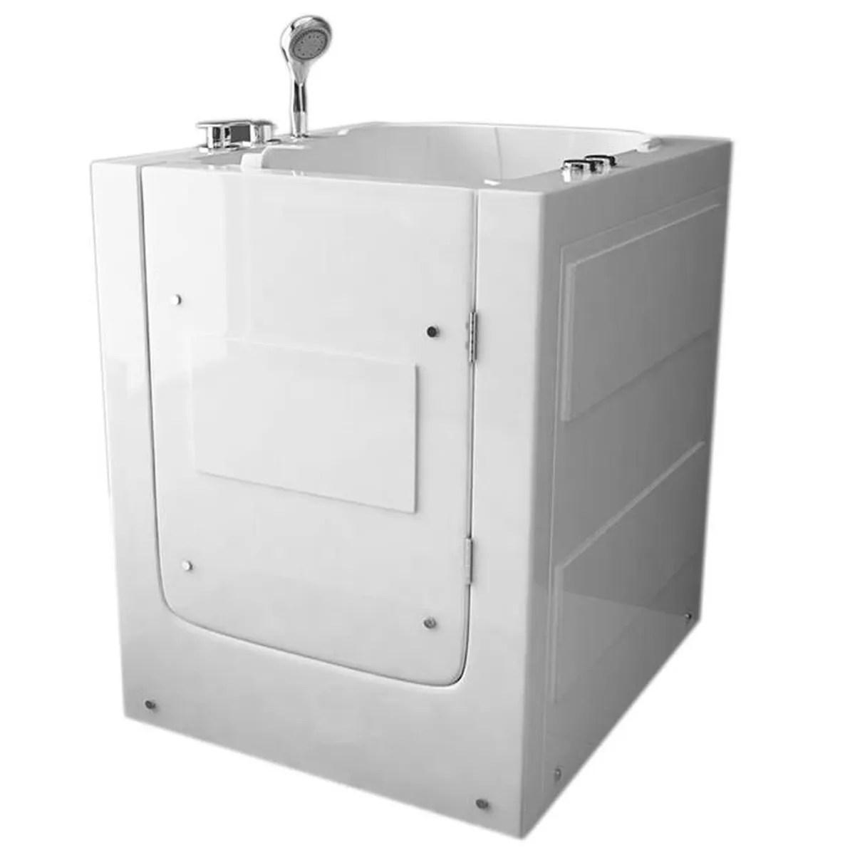baignoire douche balneo avec porte