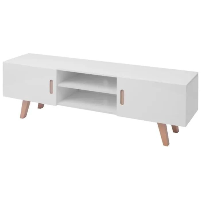 meuble tv 2 portes scandinave design moderne m