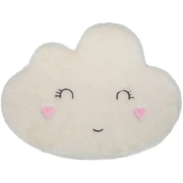 tapis nuage visage blanc