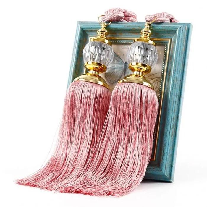 rose1 paire d embrasses de rideau