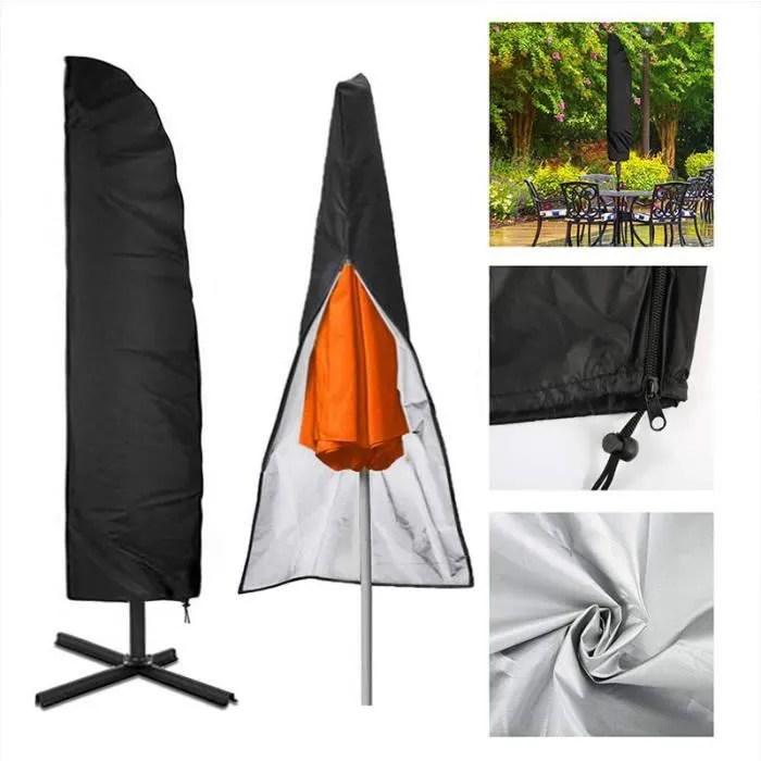 housse de protection pour parasol deporte housse pour parasol en 210d oxford impermeable resistant a uv intemperies pour