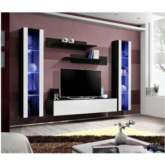 meuble tv fly a2 design coloris noir et blanc bri