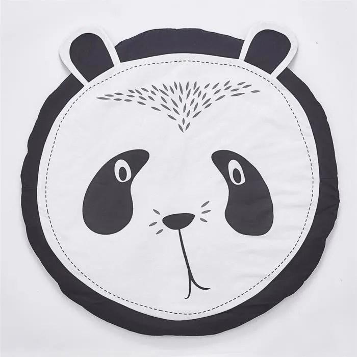 tapis d eveil panda tapis de jeu rond en coton pou