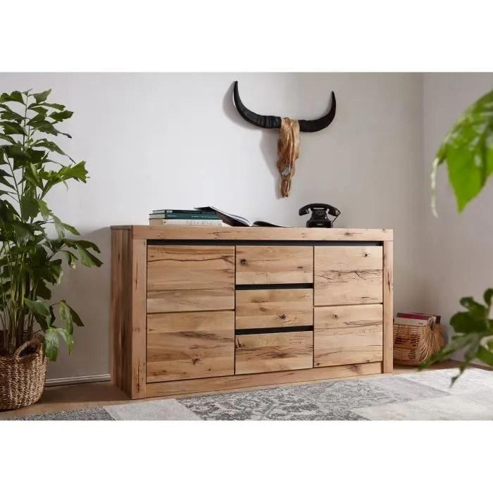 buffet bois massif de chene sauvage huile bois naturel montreux 127