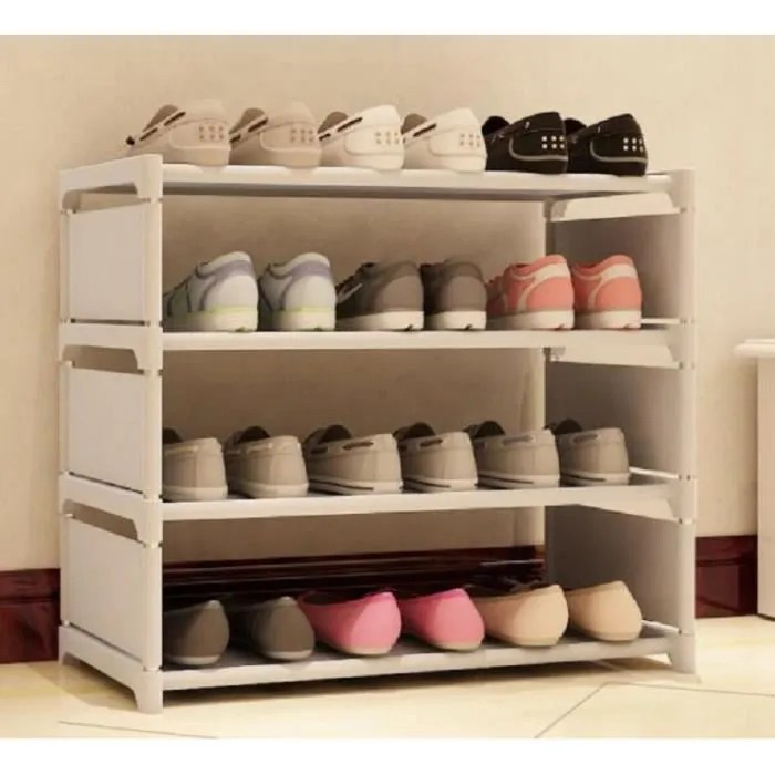 etagere range chaussures 16 paires 60 50 30cm yeatbang