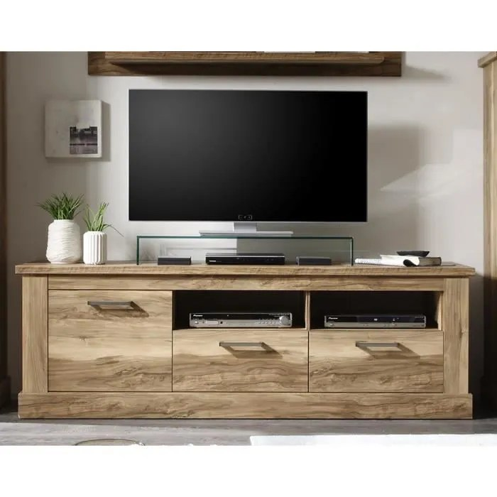 meuble tv bois clair contemporain