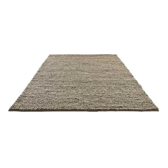 tapis tresse en laine naturel 170 x 230 cm