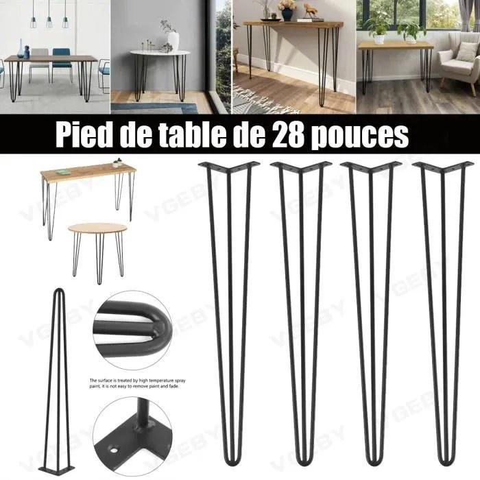pieds de table noir fer accessoires pour meubles b