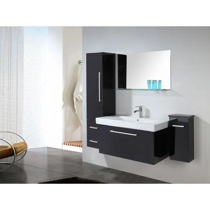 meuble salle de bain noir vasque lavabo 2 unite