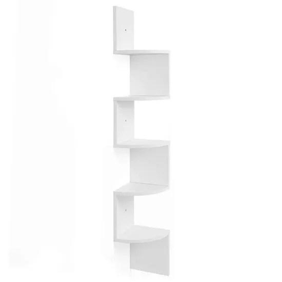 etagere d angle etagere murale etagere en forme zigzag bibliotheque blanc lbc20wt