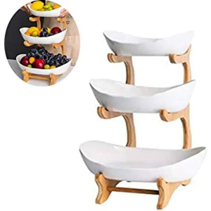grande corbeille a fruits 3 etages fruit fetes plat en la ceramique panier a fruits plateaux de service pour gateaux fruits dessert