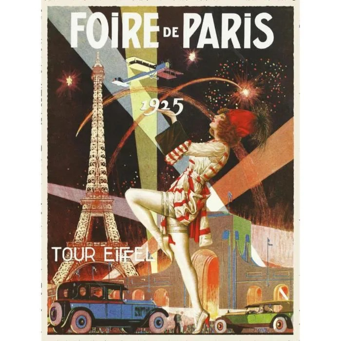 poster affiche art deco foire de paris affiche ancienne vintage 1925 42cm x 55cm