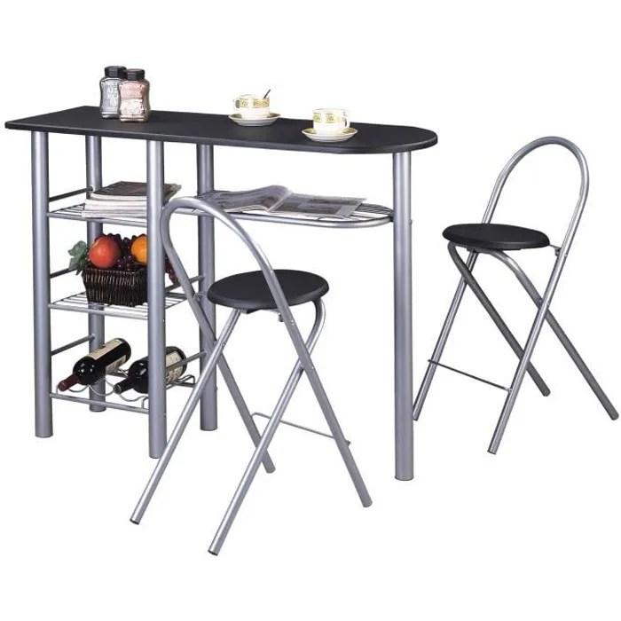 ensemble style avec table haute de bar