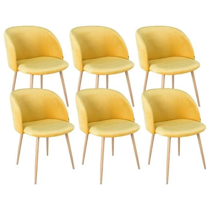 helsinki lot de 6 chaises scandinaves