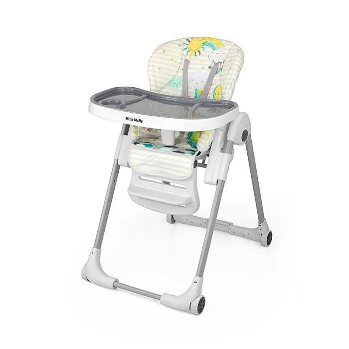 chaise haute evolutive reglable pliante compacte 6m 3ans milano sky