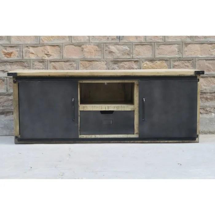 meuble tv 160 cm porte coulissante