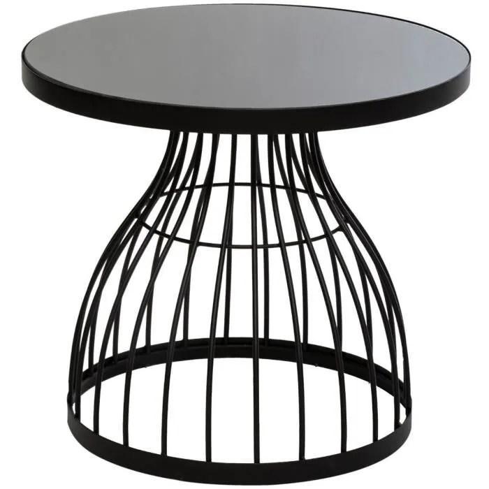 petite table d appoint en verre