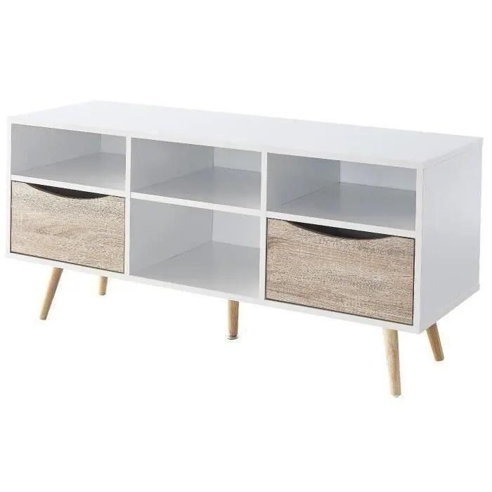 mob meuble tv scandinave blanc et decor