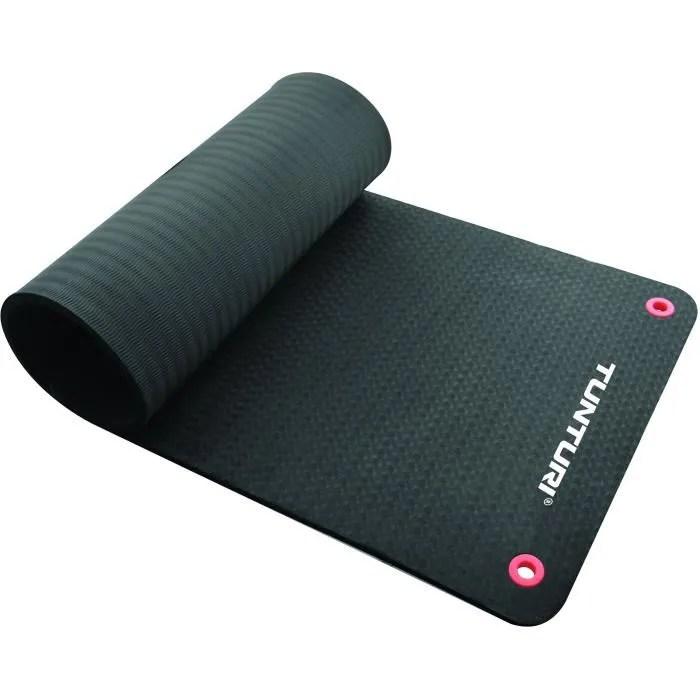 tunturi matelas tapis fitness pro 180cm noir