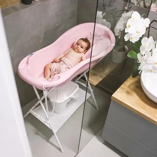 luppee baignoire pour bebe baignoire bebe sur pied antiderapant baignoire 100cm chien et chat rose