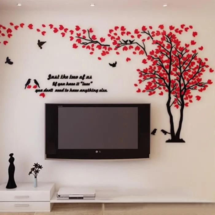 1mx2m 3d sticker mural sticker muraux amovibles stickers muraux salon grande taille stickers muraux chambre adulte rouge droit
