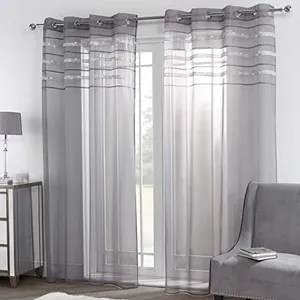https www cdiscount com maison r rideau gris paillette html